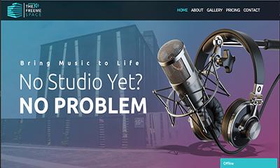 Freeme Space - Sound Studio Website